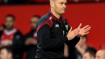 Norwich City manager Alex Neil wants the fans to play their part against West Ham . Photo: Nigel Fre