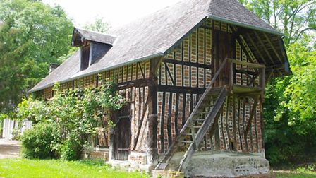This unusual colombage is part of an entire 17th-century village in Calvados, set in 11ha of meadows