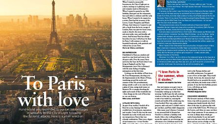 Our poignant To Paris with love feature, filled with all our reasons why we love the City of Light