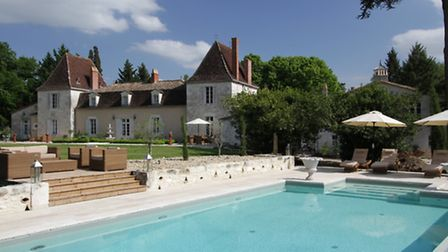 The owners of this chateau in Dordogne rent it out in July and August for £8,000-9.500 per week