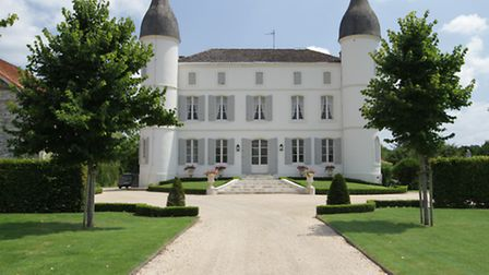 This stunning painted chateau is walking distance from a riverside village in south-west France and