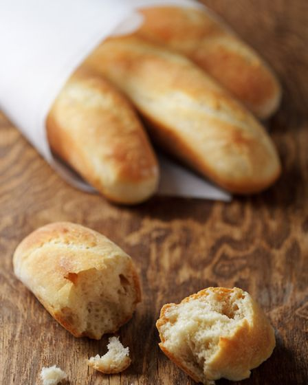 A freshly baked French baguette is perfect with cheese
