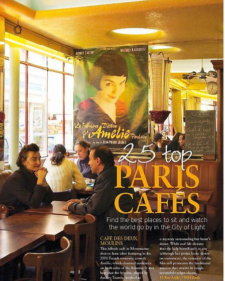 A view inside the café which featured in the 2001 film Amélie