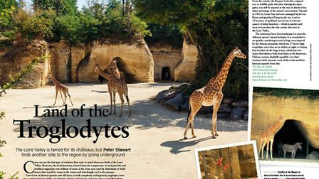 The spectacular tufa stone caves that make up the Bioparc in Doué-la-Fontaine