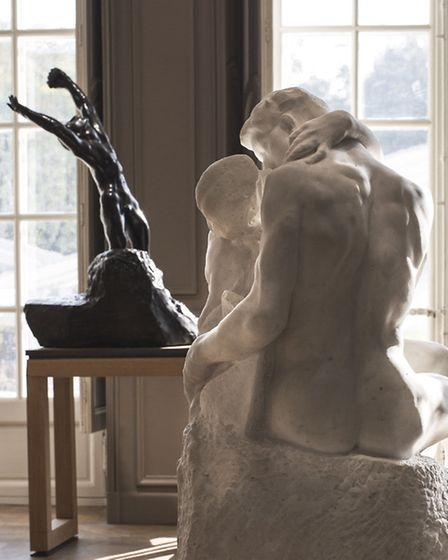 A view of The Kiss, one of Rodin's most iconic artworks © Agence Photographique du Musée Rodin - Jer
