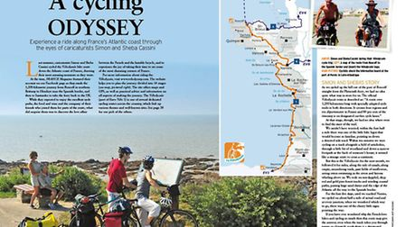 Simon and Sheba Cassini head off on a cycling tour of the scenic west coast of France