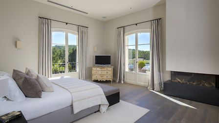 Inside one of the villa's several well-appointed bedrooms