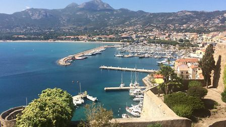 The bay of Calvi from the citadel