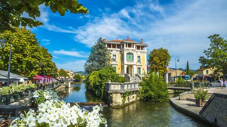 The delightful Provenal town of Isle-sur-la-Sorgue is home to a floating food market
