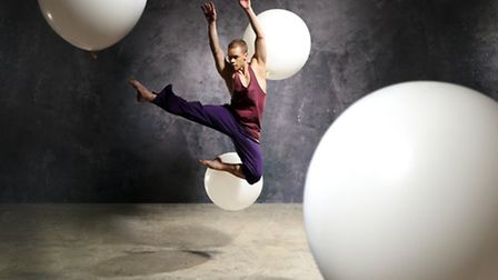A young energetic dancer performs a modern dance at the Darc Festival in Chteauroux