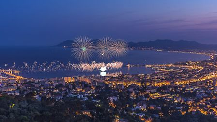 Fireworks light up the sky in the Riviera town of Cannes ThinkStock
