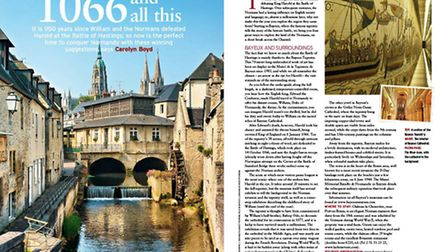 The River Aure runs through the delightful Normandy town of Bayeux