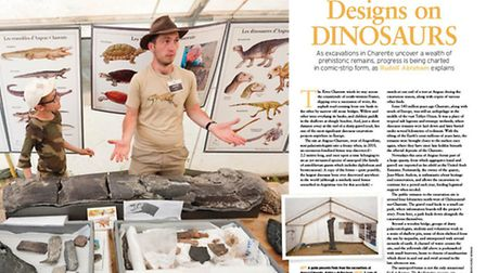 A guide presents finds at Angeac-Charente