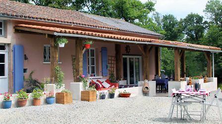 A converted farmhouse equipped with eevrything you might need for a night under the stars