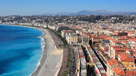 An aerial view of sunny Nice in winter © Dreamstime
