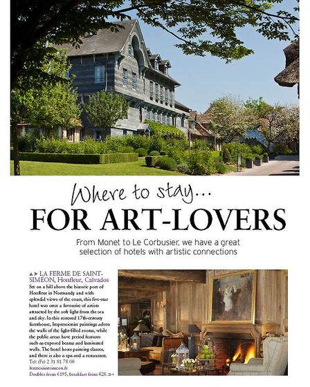 Where to stay for... Art Lovers