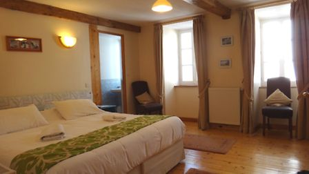 One of five spacious bedrooms inside Les Cailloux in Barèges