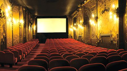 The interior of the La Pagode independent cinema