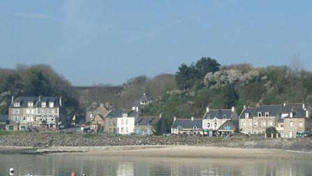 Houses by the water in Cancale, Brittany