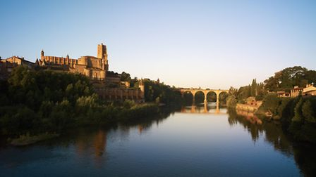 The historic town of Albi on the banks of the River Tarn
