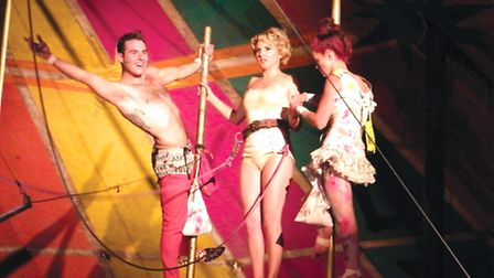 Verity in the trapeze show