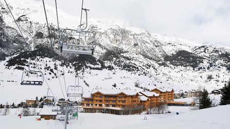 A view of Le Chalet de Flambeau, the ski-in, ski-out rsidence de tourisme at Val Cenis