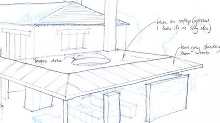 Part of Neil's drawing of the roof