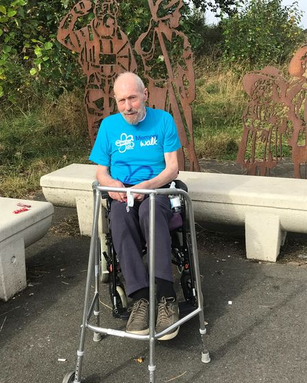 Neil Cordell has been taking part in the Alzheimer's Society Memory Walk for his fellow residents at Thorp House in Griston.