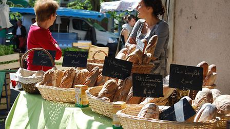 Local produce sold at the Saturday market in Ruffec