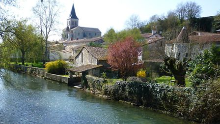 The river Charente running through Verteuil