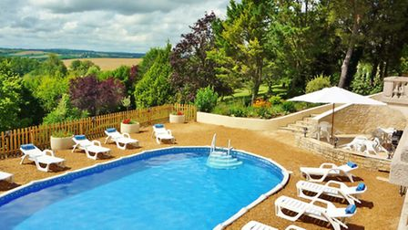 The Swimming pool at La Coutancie, Dodorgne (www.frenchconnections.co.uk)