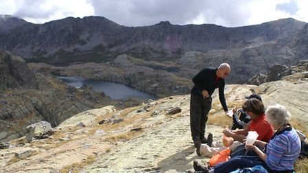 Stopping for refreshments in the Vallée of Mercantour