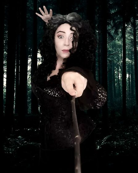 An actress portraying a well known witch