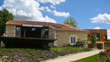 The converted barn is a wonderful addition