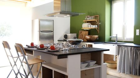 The accommodation features modern and colourful living