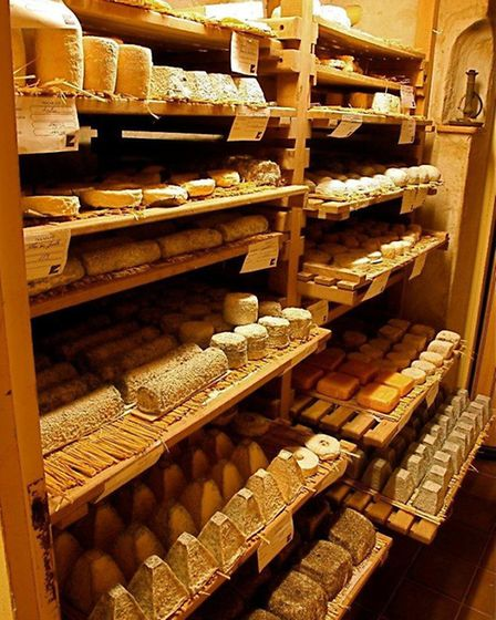 Cheese cellar at Phillipe Oliver