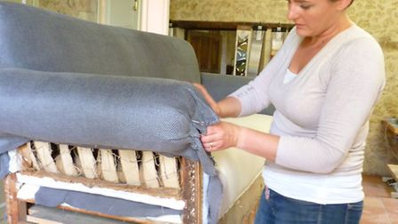 Ciara runs her upholstery business from her 17th-century chateau deep in the Gers countryside