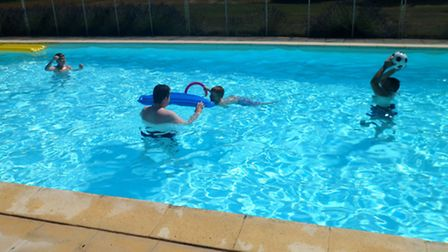 The swimming pool at Le Moulin