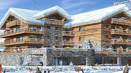 This computer-generated image shows how Chalet Kayla in Les Deux Alpes will look when it is complete