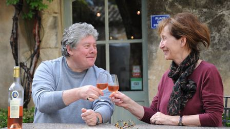 François and Sally Faverot de Kerbrech raise a glass to life in France