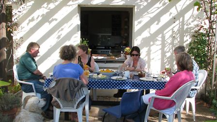 Sue Culligan runs small informal retreats from her home in Charente-Maritime