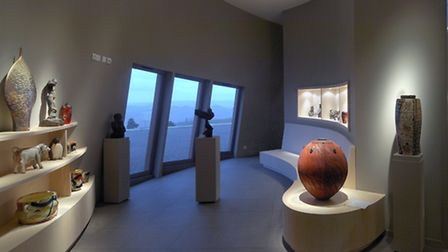 Ceramics on display in the gallery at Le Don du Fel