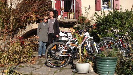Tessa Meijer and Geoff Moss run a cycle hire business in the Gorges du Tarn