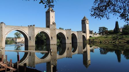 The famous Pont Valentré in Cahors is a favourite photo opportunity