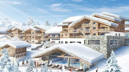 This computer-generated image shows how MGMs new Résidence Léana in Les Carroz will look when it is