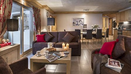 This interior at Résidence Chalets de Jouvence in Les Carroz is similar in style to those planned at