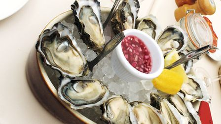 A tasty dish fresh from the oyster beds