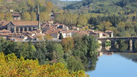 The picturesque riverside town of St-Antonin-Noble-Val