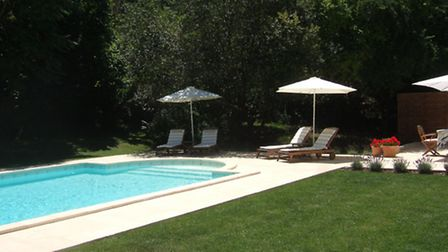 A swimming pool is attractive to holidaymakers
