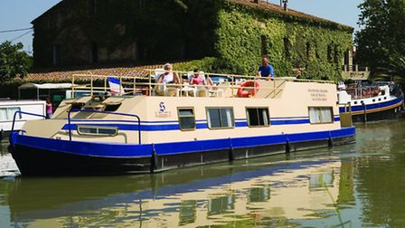 An example of a wide beam boat